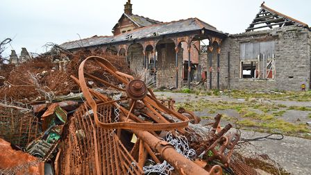 The derelict main building at Birnbeck Island. Picture: Henry Woodsford