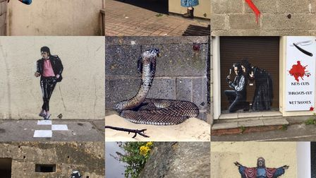 Street artist JPS has painted and restored a number of works across town.Picture: JPS