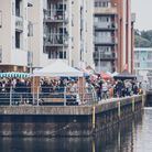 The marina comes alive during a previous food festival.