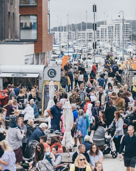 The crowds flock to a previous eat festival in Portishead.