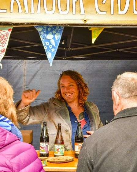 Secret Orchard Ciders always draw a crowd to their stalls.