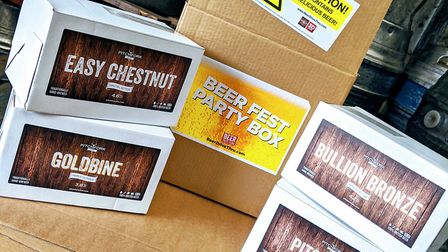 A beer festival party box sold by Pitchfork Ales, who will be at eat: Portishead.