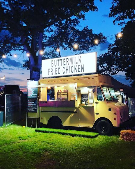 One of Passion and Soul Food's waggons at another festival.