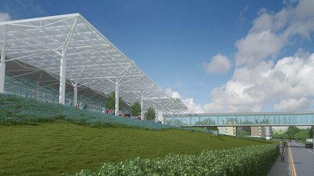 An artist's impression of the new terminal at Bristol Airport. Picture: Bristol Airport