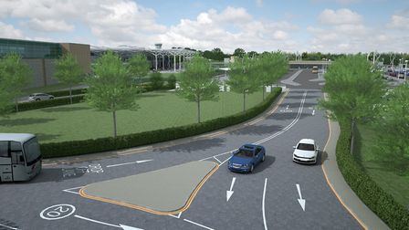 An artist's impression of the road layout at Bristol Airport. Picture: Bristol Airport