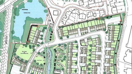 Proposed Layout of 110 homes off Lakeside in Highbridge. Picture: The Landscape Practice