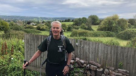 67 year old Peter Garner will undergo the Pilgrim Way of St James, from the French Pyrenees to Santi