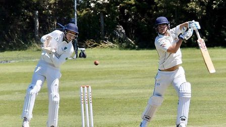 Dan Williams during Clevedon's game with Bedminster. Picture: Josh Thomas.