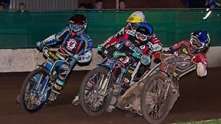 Action from the Somerset Rebels KO Cup 1st leg win over Belle Vue Aces. Picture: COLIN BURNETT
