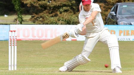 Weston's Matt Kearsley on his way to 69 not out from 62 balls in their match against Congresbury at
