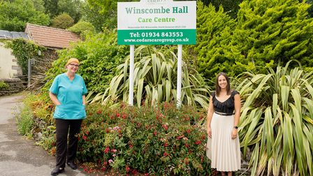 Winscombe Hall operations manager, left, Annie Cowell and Redrow Homes sales manager, Charlotte Newn