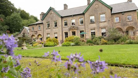 The grounds at Winscombe Hall Care Home.