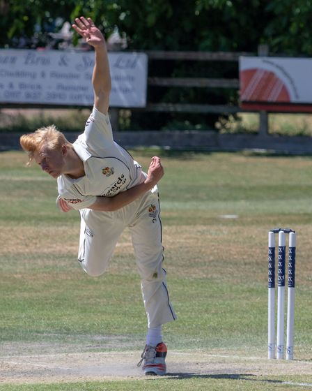 Cameron Harding scored 100 from 95 balls during Congresbury's victory over Weston. Picture: Jason Cr