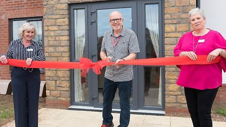 Cllr Steve Bridger was at the unveiling with move ins expected this Winter.