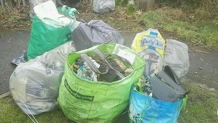 Litter has been left in many areas across North Somerset. Picture: Emma Harris