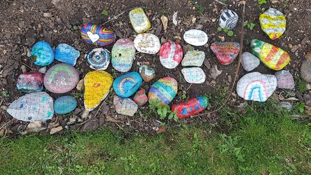 Kindness rocks at grove park to be made into a permanent rockery.