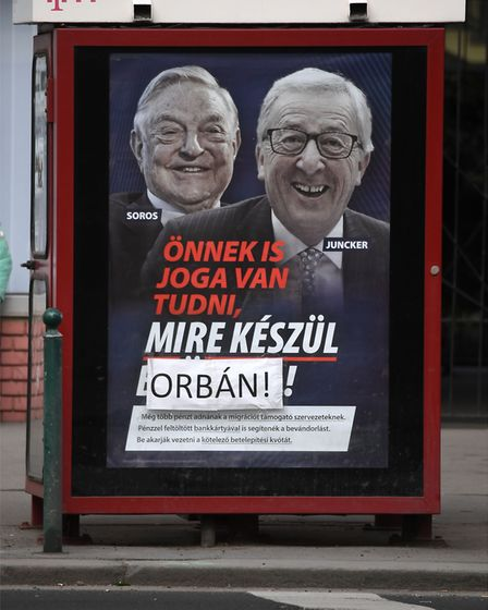 Opposition activists in Hungarydefaced hundreds of posters put up by the government of nationalist P