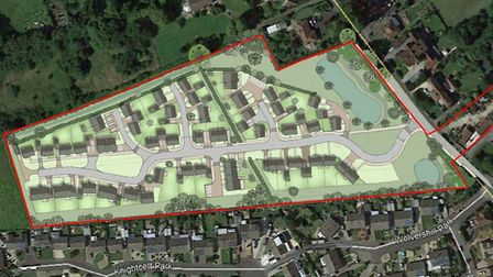 Illustrative plans for Wolvershill Road in Banwell.