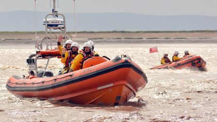 Burnham RNLI helped to rescue a woman found waist-deep in mud. Picture: Mike Lang