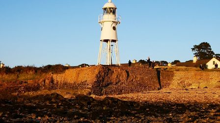 Not a cloud in the sky at Black Nore Lighthouse in Portishead. Picture: Richard Hayball