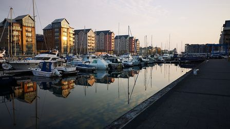 There is not a ripple in the water at Portishead Marina. Picture: Richard Hayball