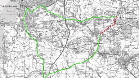 North Somerset Council has published a diversion route for vehicles. Picture: North Somerset Coun