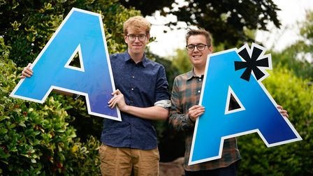 Sam and Joe Oxley secured university spots after getting their predicted grades.