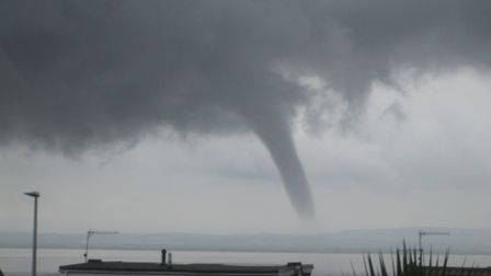 Jim Heber spotted a funnel cloud spinning over the Bristol Channel near Portishead. Picture: Jim