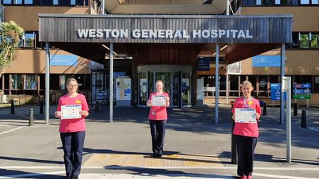 Bianca Lopez, Annie Mansfield, Emma Shah, speech and language therapists at Weston General Hospital.