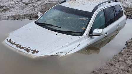 A beach car park has closed after holidaymakers have 'ignored safety advice'. Picture: Burnham C