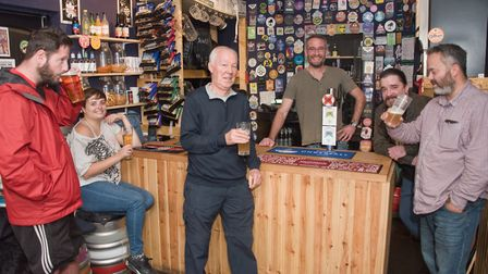 Customers and staff at The Black Cat. Picture: MARK ATHERTON