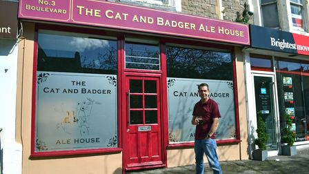 Chris Knights runs The Cat and Badger Ale House. Picture: Henry Woodsford