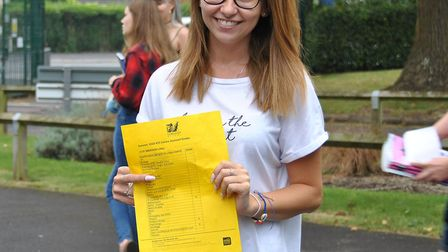 Libby Smerdon achieved three As in her A-Levels and is heading to Bristol University. Picture: Gord