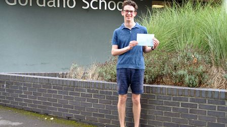 Student Ben Holmes achieved A*s and is heading to Cambridge University to study Modern Languages. Pi
