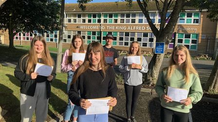 Students picked up their results at TKASA. Picture: TKASA