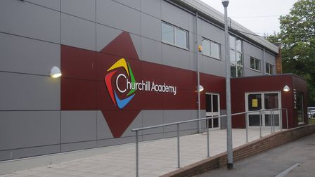 Students received their GCSE results from Churchill Academy.