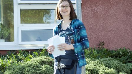 Isabelle Ainger collecting her GCSE results on Thursday. Picture: Gordano School
