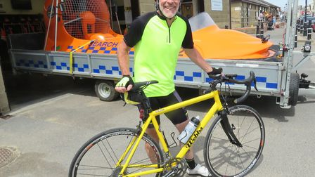 Former mayor of Burnham and Highbridge, Andy Brewer, will cycle 200 miles for BARB in September. P