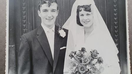 Ian and June on their wedding day.