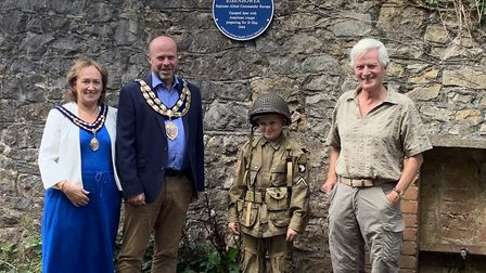 Weston's mayoress and mayor, Ivan Jeffery and John Crockford-Hawley. Picture: Weston Town Council