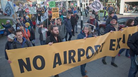 Protests against Bristol Airports expansion were held in February. Picture: MARK ATHERTON