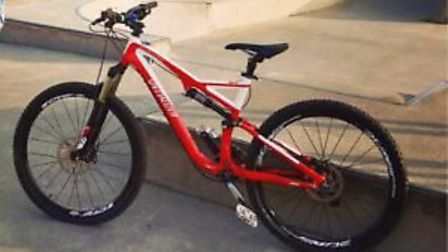 Two electric bikes were stolen from a garage in Uphill.