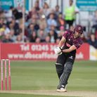Tom Lammonby in batting action for Somerset (pic Ray Lawrence/TGS Photo)