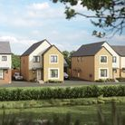 A CGI street scene image of Lovell Homes' Foxglove Meadows housing development.Picture: Lovell Homes