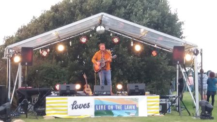 Ben Ottewell performing at Live on the Lawn.
