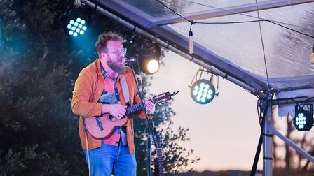 Ben Ottewell on stage at Loves Live On The Lawn. Picture: Paul Blakemore