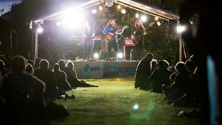The Magic Numbers on stage at Loves Live On The Lawn. Picture: Paul Blakemore
