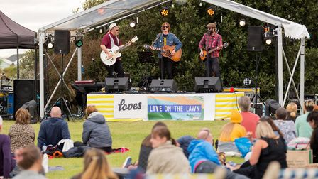 Alex Lipinski on stage at Loves Live On The Lawn. Picture: Paul Blakemore