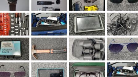 Items stolen from cars in Uphill.