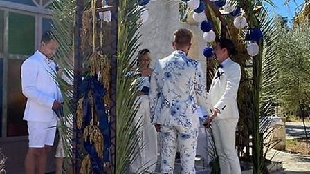 Adam and Aaron were finally able to get married in front of their 32 close family and friends.